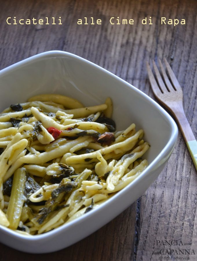 Cicatelli alle cime di rapa