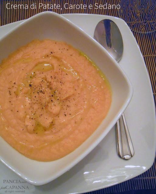Crema di patate, carote e sedano