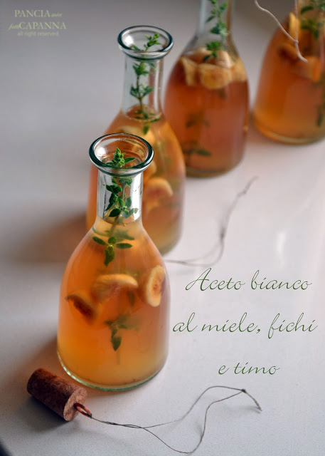 Aceto bianco al miele, fichi e timo