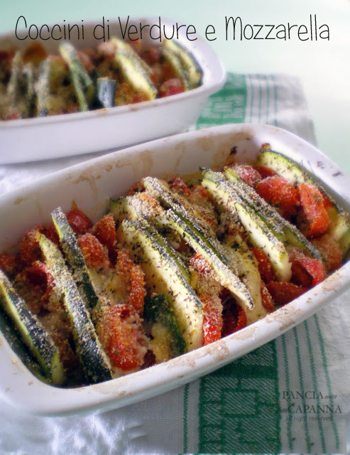 Coccini di verdure e mozzarella