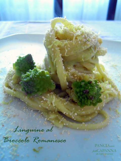 Linguine al broccolo romanesco