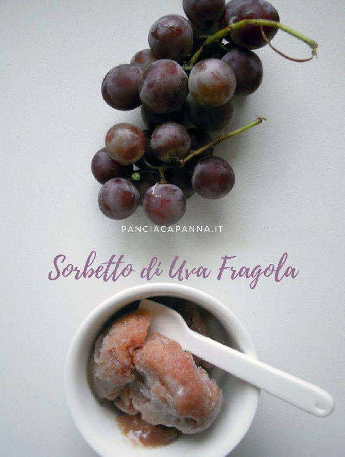 Sorbetto di uva fragola
