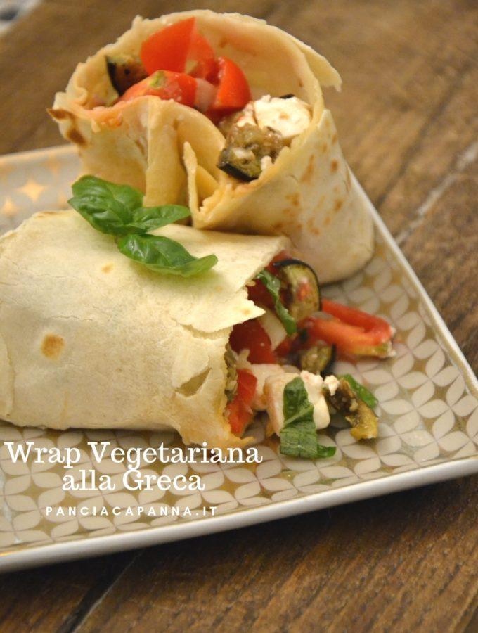 Wrap vegetariana alla greca
