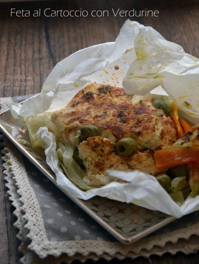Feta al cartoccio con verdurine