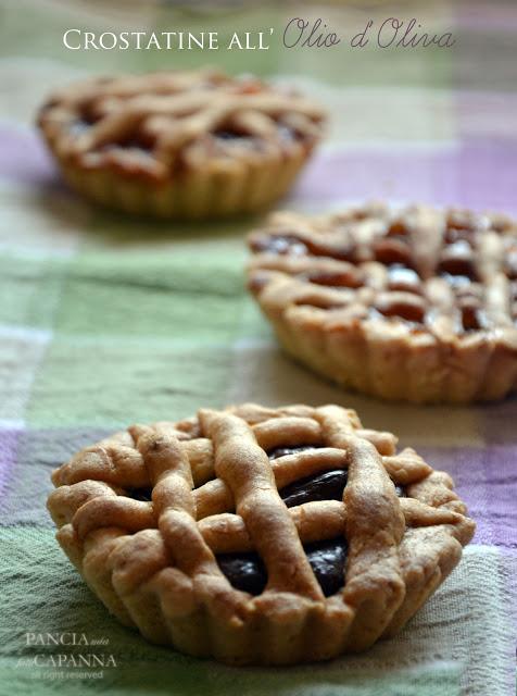 Crostatine all'olio d'oliva con nutella o marmellata
