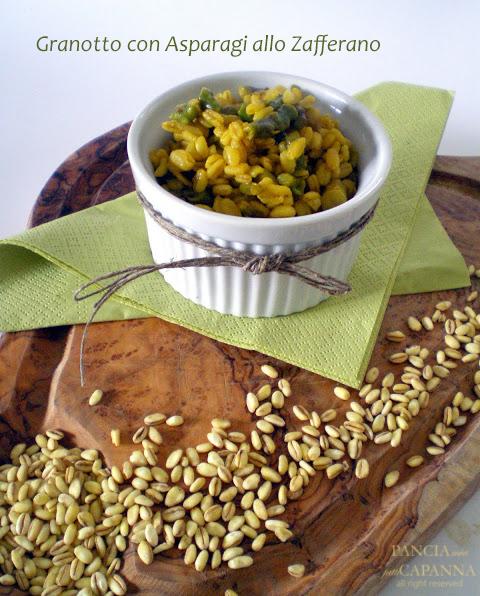 Granotto con asparagi allo zafferano