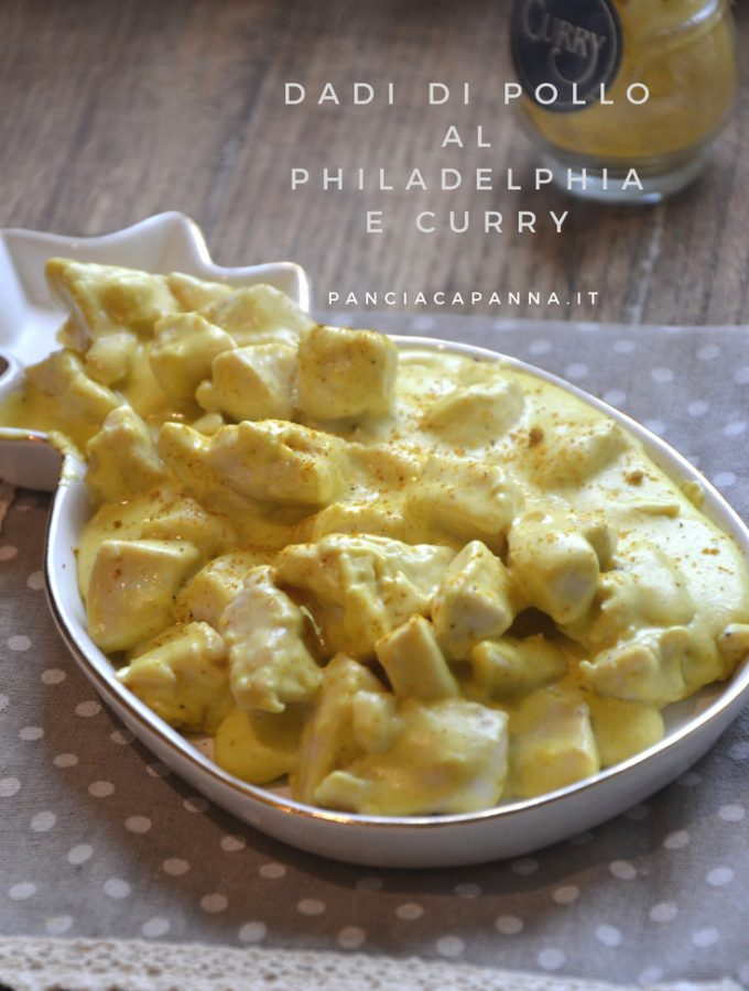 Dadi di pollo al philadelphia e curry