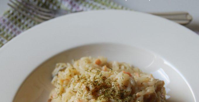Risotto al salmone e gorgonzola