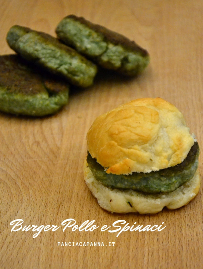 Burger pollo e spinaci