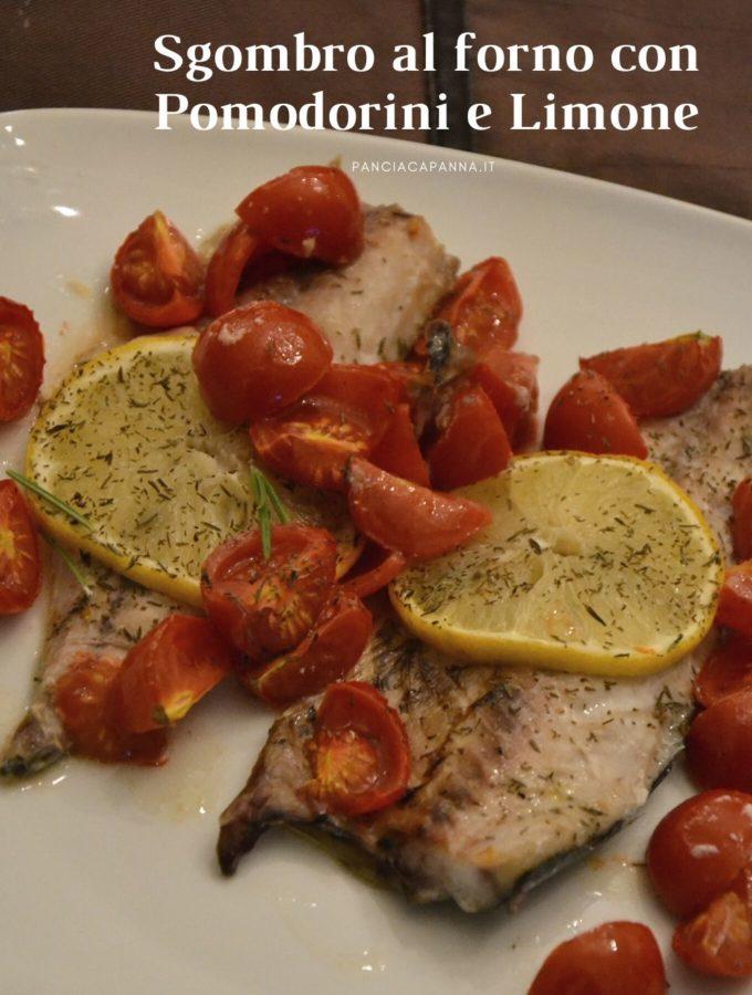 Sgombri al forno con pomodorini e limone