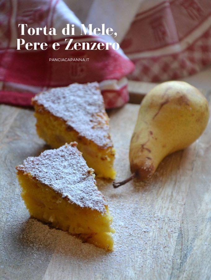 Torta di mele, pere e zenzero