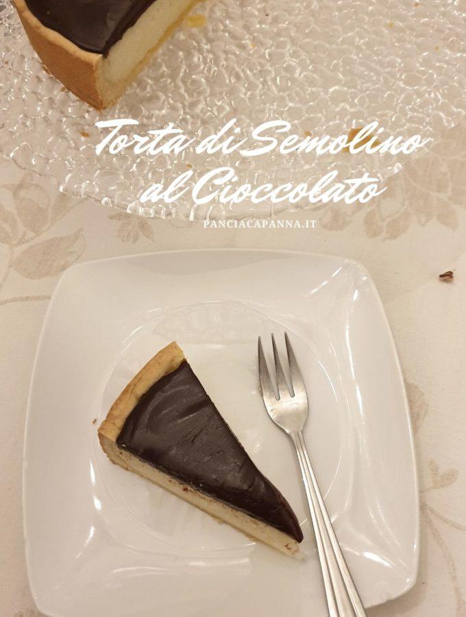 Torta di semolino al cioccolato