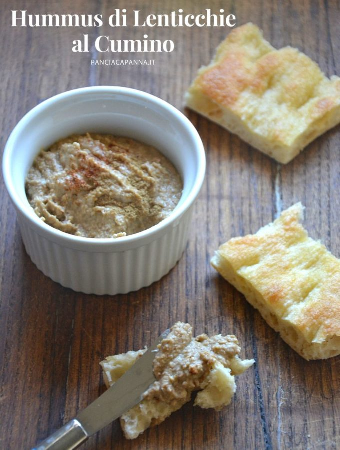 Hummus di lenticchie al cumino
