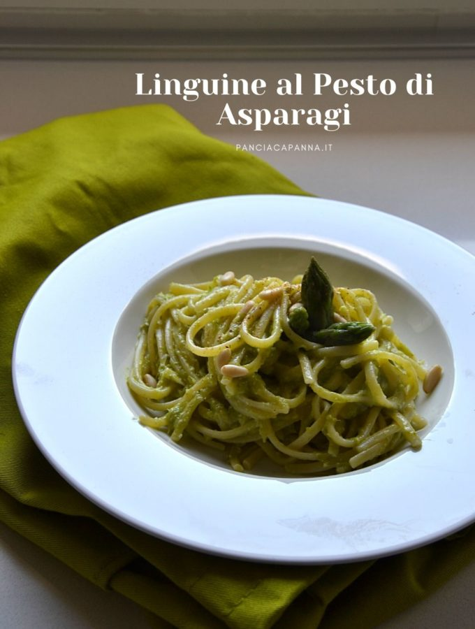 Linguine al pesto di asparagi