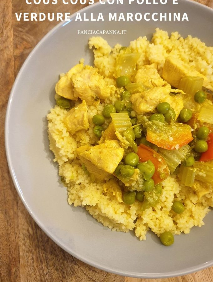 Cous cous con pollo e verdure alla marocchina