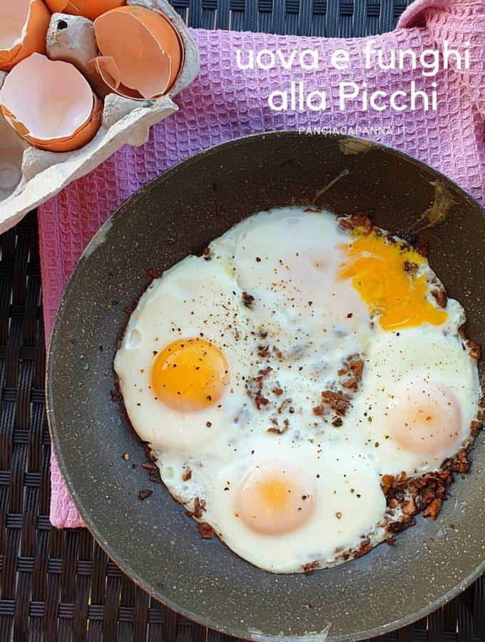 uova e funghi alla Picchi