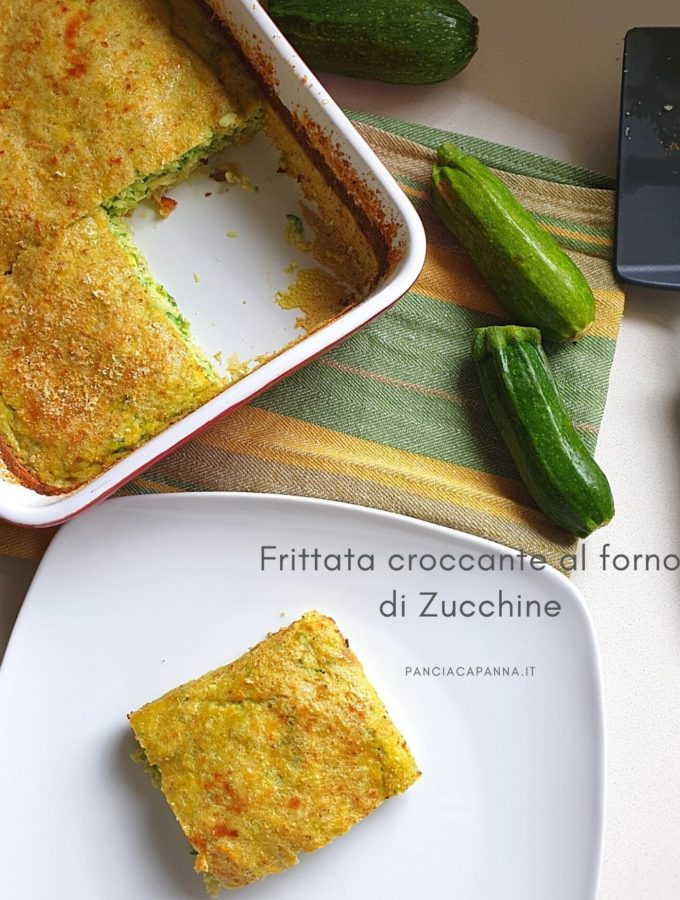 Frittata croccante al forno di zucchine