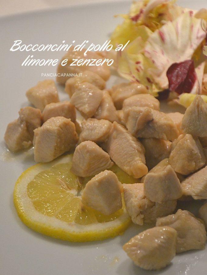 Bocconcini di pollo al limone e zenzero