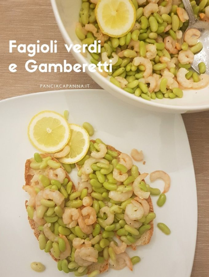 Fagioli verdi e gamberetti