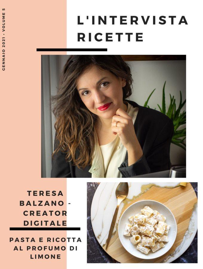 L'Intervistaricette: Teresa Balzano – Web Creator